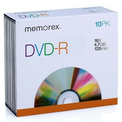 Memorex Recordable DVD-R 10 Pack: BRAND NEW/FREE SHIPPING