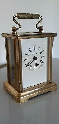 Dominion Mechanical, Quality Vintage English Carriage Clock.good Working Order.