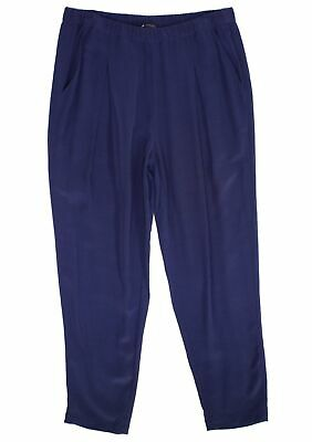 Eileen Fisher Womens Pants Blue Size Medium M Pleated Slim Stretch $178- 017
