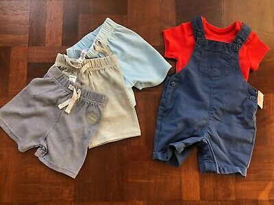 Baby Boy, Brand New Summer Bundle, 3-6 Months, Dungarees & Shorts, M&S & GEORGE