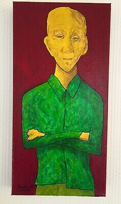 Outsider Art Singulier (Acrylic painting, Expressionism)