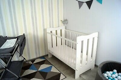 White Baby Cot & toddler bed with mattress 'PIKOLINO'