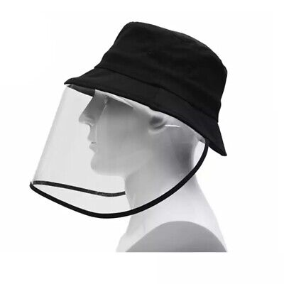 Protective Clear Full Face Cap Anti-dust Saliva Windproof Fisherman Hat