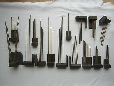 Antique HERMLE CLOCK Chime Block Rod Movement Mechanism Assemblies LOT Of 18 Vtg