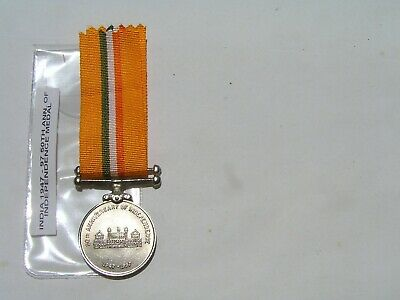 india 1997 50th. anniversary of independence medal, un named.