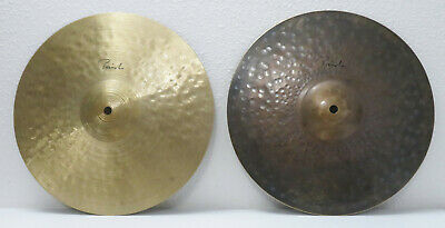"SOUND FILE! RARE & No Longer Made PAISTE TRADITIONAL 13"" MEDIUM LIGHT HI-HATS!"