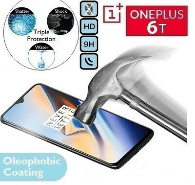 100% Genuine Tempered Glass Screen Protector (A6013) One Plus 6 T For OnePlus 6T