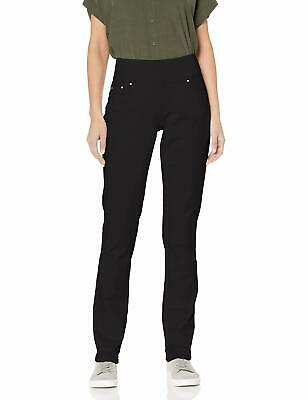 Jag Jeans Womens Pants Black Size 2 Peri Straight-Leg Pull-On Stretch $74- 804