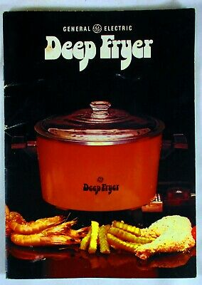 Vintage General Electric Deep Fryer How To Use & Recipe Booklet