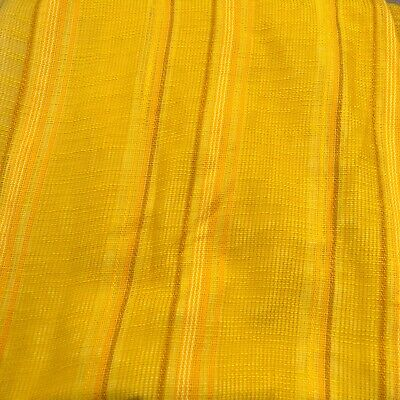 Vintage 70s Curtain Fabric ,Net Curtain ,Orange Yellow Retro Fabric, Mid Century