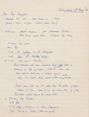 Mathematical Calculations Handwritten by Francis Crick - DNA Helix Co-Discoverer