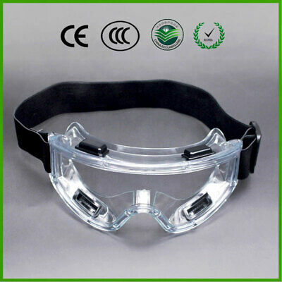 Clear Protective Safety Glasses Eye Protection Anti-fog Work Lab Goggles