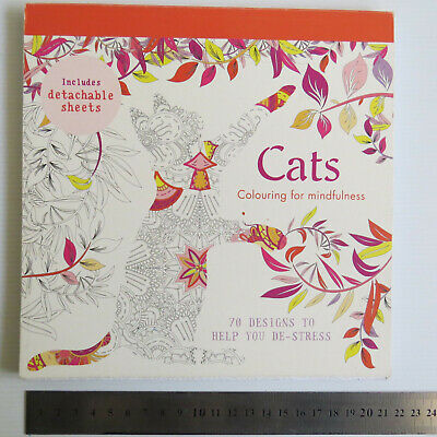 ••| CATS Colouring for Mindfulness | 70 DETACHABLE Designs to help Destress |••