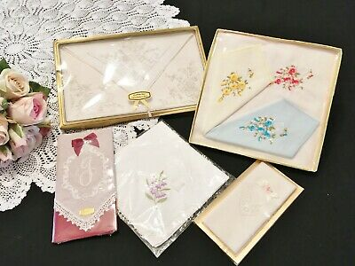 Vintage Style Boxed/Packaged Handkerchiefs