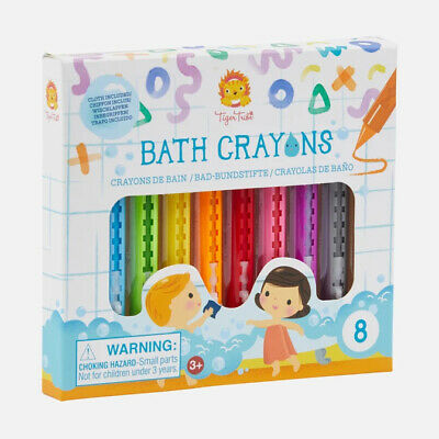 Pack of 8 Bath Crayons by Tiger Tribe - Ages 3+ Tiger Tribe
