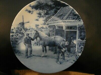 1984 Ter Steege BV Delft Blauw The Farrier 120 mms Dia. Plate