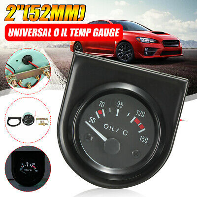 2 inch 52mm Universal Car Pointer Oil Temperature Gauge 50-150℃ White LED Light
