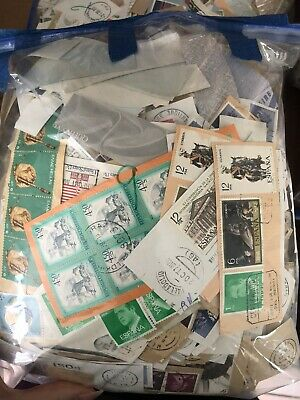 Kiloware 1kg On/off Paper Stamps International Unsorted 1960's-1980's