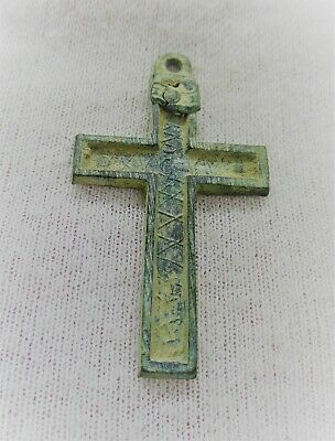 Detector Find Ancient Religious Bronze Crucifix Cross Amulet Wearable