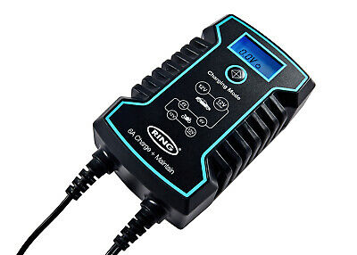 RSC806 Ring 6A Smart Battery Charger and Battery Maintainer LCD Display 6/12V