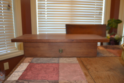 """Vintage Floating Wooden Wall Table Shelf w/ Drawer  23"""" Mid Century Modern 50's"""