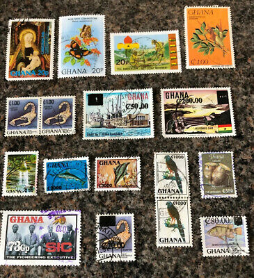 British Commonwealth Stamps. Ghana Stamps Mixture