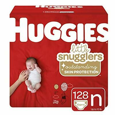 Huggies Little Snugglers Baby Diapers, (Newborn (128 Count)|Large QTY Pack)