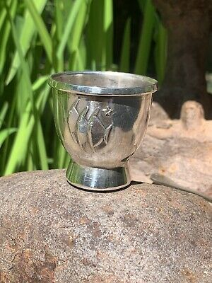 Unique Norwegian 830 Silver Egg Cup Three Fishes