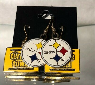Steelers Football Two Sets Drop Earring Lot/ Pre Owned/ China