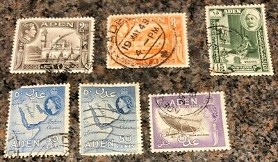 British Commonwealth Stamps. Aden Stamps. Mixture. See Note