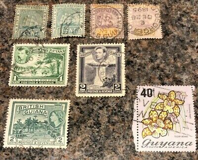 British Commonwealth Stamps. British Guiana/Guyana Stamps. Mixture