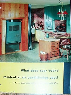 1954 CARRIER WEATHERMAKER Heating Air Conditioning HVAC ASBESTOS History Catalog
