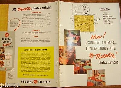 1952 GE General Electric TEXTOLITE Furn Plastic Surface ASBESTOS History Catalog