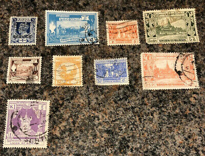British Commonwealth Stamps. Burma Stamps. Mixture