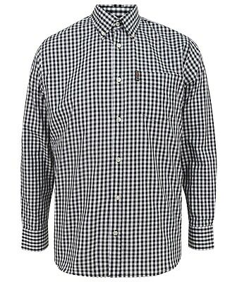 Homme TROJAN CHIEN DENT//Hounds Tooth Panel Polo Shirt TR 8471-Noir