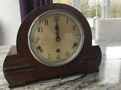 Vintage Garrard Mantel Chime Wind Up Clock Working With Key