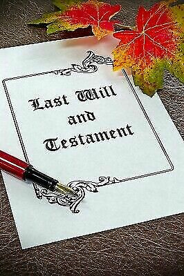 2020 LAST WILL AND TESTAMENT KIT UK BRAND NEW Edition Made for Couples or Single