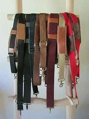 Assorted Black/Brown/Khaki/Burgundy/Red Canvas Duffle Bag Replacement Straps