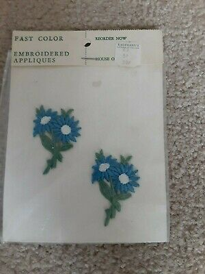 Vintage sew on embroidered appliques - Floral