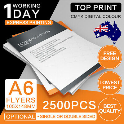 A6 Flyers 2500pcs (Double/Single Sided) 150gsm/300gsm A6 Flyer Printing
