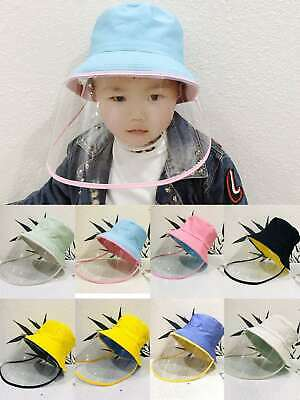 Kids Face Shield Hat Windproof Anti Splash Spray Protection Safety Face Shield