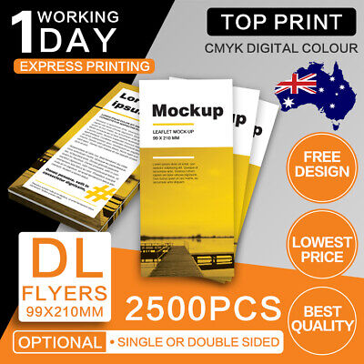 DL Flyers 2500pcs (Double/Single Sided) 150gsm/300gsm DL Flyer Printing
