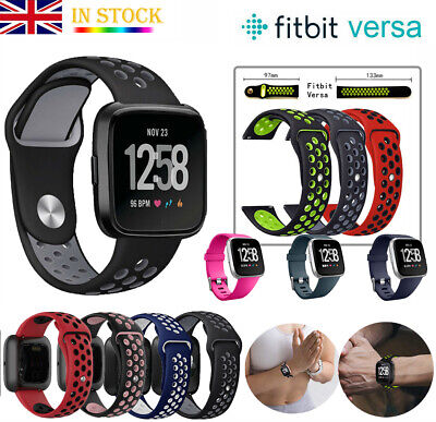 Fitbit Versa 2 1 Lite Sport Soft Silicone Watch Strap Band Wristband Replacement