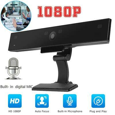 HD Pro Computer PC Webcam Camera Full HD 1080p Stream Gaming with 4 Microphones