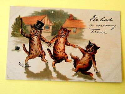 """1904.LOUIS. WAIN. Signed. RARE POSTCARD. """"We had a merry Time"""". . . """"L@@K""""."""