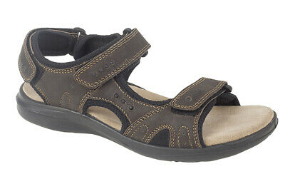 MENS NUBUCK LEATHER Adjustable Sports Sandals Roamers Summer