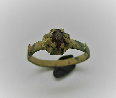 Circa 900 - 1100 Ad Viking Era Norse Bronze Ring Detector Finds Wearable