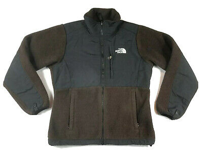 THE NORTH FACE Fleece Jacket Women's Size Small Casual Hiking Full ZIp Brown EUC