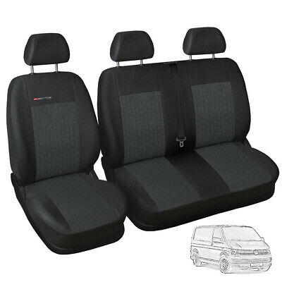Fully tailored Van seat covers for VW Volkswagen T6 grey