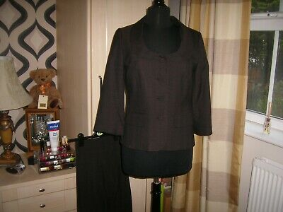 Laura Ashley Ladies Trouser Suit size 12 Brown very good condition